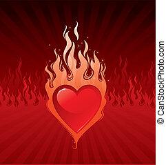 Vector illustration - Valentines Flaring heart