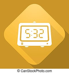 Vector icon of Clock with a long shadow
