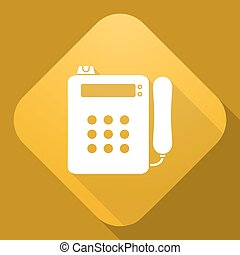 Vector icon of Payphone with a long shadow - Vector...