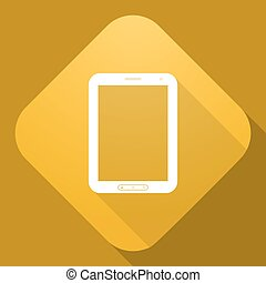 Vector icon of Tablet PC with a long shadow