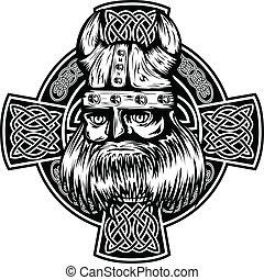 viking and celtic cross