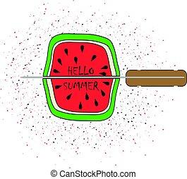 vector illustration watermelon
