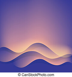 Wave abstract background.