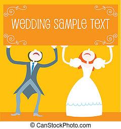 Vector Illustration: wedding set - couple standing