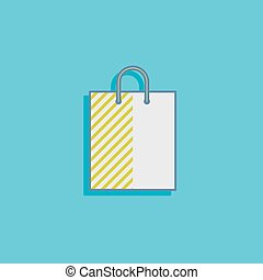 vector illustration with a shopping bag in flat style design