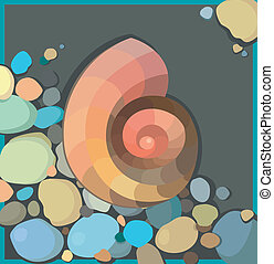 Vector illustration with abstract shell