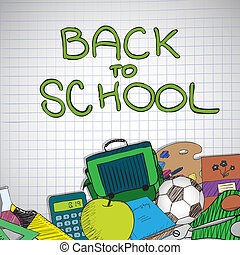 Back to school - Vector illustration with Back to school ...