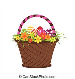 Vector illustration with basket