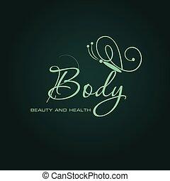 Logo design. For beauty salon, spa center, health clinic