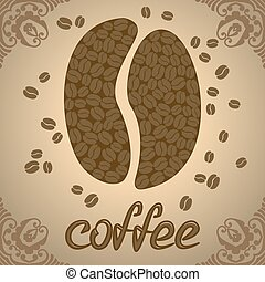 Coffee tree with beans coffea vector illustration. Coffee ...