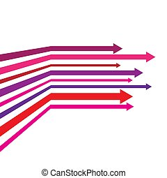 vector illustration with colored arrows on white background