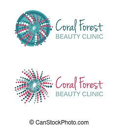 Vector illustration with coral symb