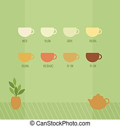 Vector illustration with cups