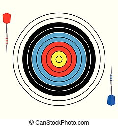 Vector illustration with dartboard for darts game