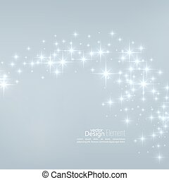 Vector illustration with festive flares. - Abstract starry...