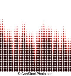 Vector illustration with halftone pattern. ?bstract red vector background.