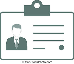Identification Card - Vector Illustration With...
