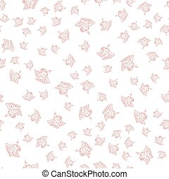 illustration with iris in vintage engraving style. Seamless Pattern