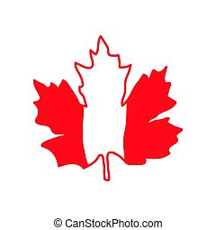 Vector illustration with maple leaf, Canada symbol