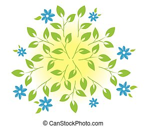 vector illustration with plants