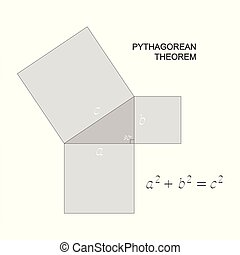 vector illustration with Pythagorean theorem