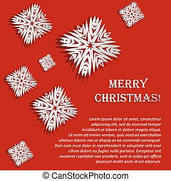 Vector illustration with snowflakes - Christmas card