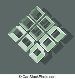 Vector illustration with  structure   on gray background.
