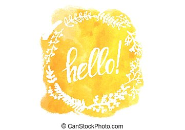 Vector illustration with the word hello.