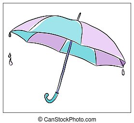 Vector illustration with Umbrella on a white background.