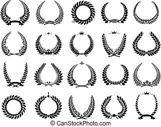 vector illustration wreaths triumph - vector illustration ...
