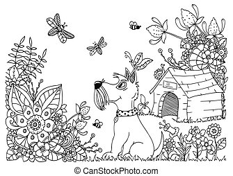 Kennel For A Dog Illustration On A White Background