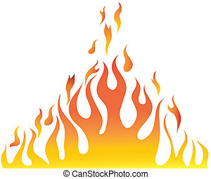 body of flame - Vector illustrations body of flame on white...