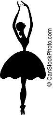 ballet icon isolated on white background.