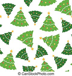 Christmas color firs pattern seamless - Vector illustrations...