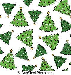 Christmas firs pattern seamless