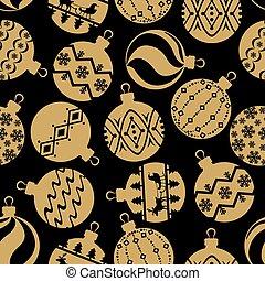 Christmas balls pattern seamless