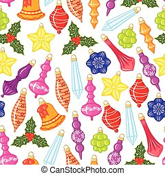 Christmas baubles pattern seamless