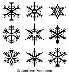 Christmas decorative snowflakes set