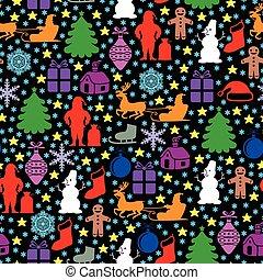 Christmas multicolor pattern seamless