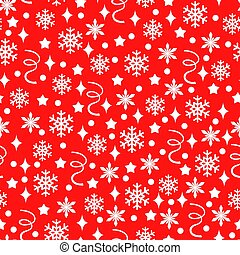 Christmas pattern seamless with confetti