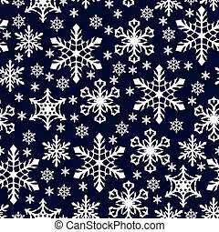 Christmas pattern seamless with snowflakes