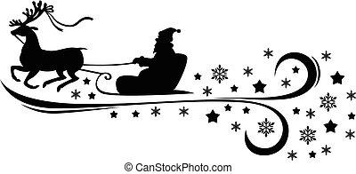 Santa ridding sleight