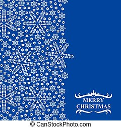 Christmas snowflakes card with vertical design