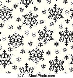 Christmas snowflakes pattern seamless