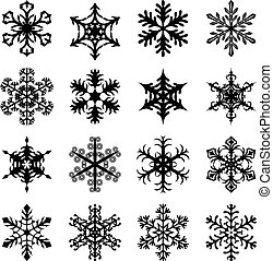 Christmas snowflakes set