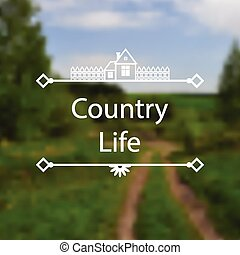 Country Life background - Vector illustrations of Country...