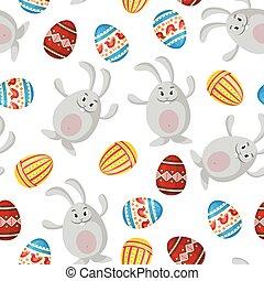 Easter cartoon pattern seamless