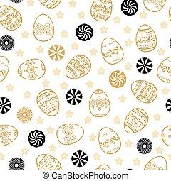 Easter golden pattern seamless
