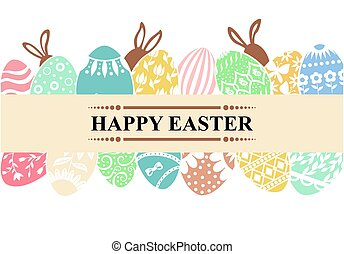 Easter greeting banner