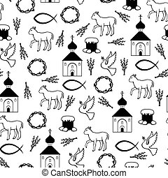 Easter Orthodox pattern seamless